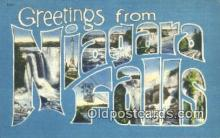 LLT200322 - Niagara Falls, NY, USA Large Letter Town Postcard Post Card Old Vintage Antique