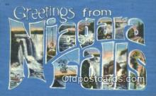 LLT200323 - Niagara Falls, NY, USA Large Letter Town Postcard Post Card Old Vintage Antique