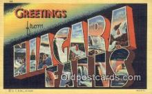 LLT200324 - Niagara Falls, NY, USA Large Letter Town Postcard Post Card Old Vintage Antique