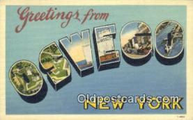 LLT200327 - Oswego, New York, USA Large Letter Town Postcard Post Card Old Vintage Antique