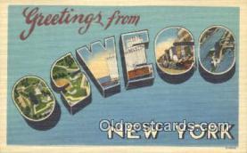 LLT200328 - Oswego, New York, USA Large Letter Town Postcard Post Card Old Vintage Antique