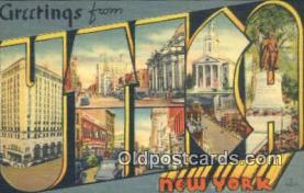 LLT200334 - Utica, New York, USA Large Letter Town Postcard Post Card Old Vintage Antique