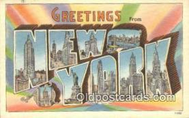 LLT200337 - New York, USA Large Letter Town Postcard Post Card Old Vintage Antique