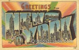 LLT200338 - New York, USA Large Letter Town Postcard Post Card Old Vintage Antique
