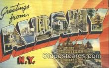 LLT200341 - Albany, NY, USA Large Letter Town Postcard Post Card Old Vintage Antique