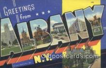 LLT200342 - Albany, NY, USA Large Letter Town Postcard Post Card Old Vintage Antique