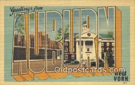LLT200343 - Auburn, New York, USA Large Letter Town Postcard Post Card Old Vintage Antique