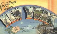 LLT200349 - Albany, NY, USA Large Letter Town Postcard Post Card Old Vintage Antique