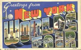 LLT200350 - New York, USA Large Letter Town Postcard Post Card Old Vintage Antique