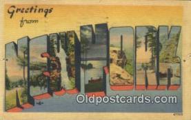 LLT200351 - New York, USA Large Letter Town Postcard Post Card Old Vintage Antique