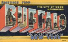 LLT200357 - Buffalo, New York, USA Large Letter Town Postcard Post Card Old Vintage Antique