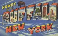 LLT200358 - Buffalo, New York, USA Large Letter Town Postcard Post Card Old Vintage Antique