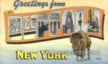 LLT200359 - Buffalo, New York, USA Large Letter Town Postcard Post Card Old Vintage Antique