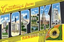 Topeka, Kansas, USA Postcard Post Card