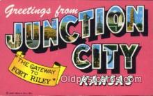 Junction City, Kansas, USA Postcard Post Card
