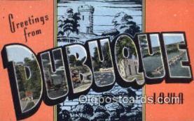 LLT200388 - Dubuque, Iowa, USA Large Letter Town Postcard Post Card Old Vintage Antique