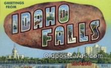 LLT200398 - Idaho Falls, Idaho, USA Large Letter Town Postcard Post Card Old Vintage Antique