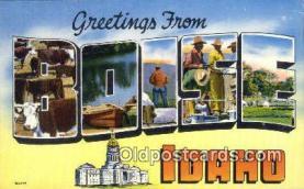 LLT200402 - Boise, Idaho, USA Large Letter Town Postcard Post Card Old Vintage Antique