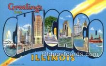 LLT200405 - Chicago, Illinois, USA Large Letter Town Postcard Post Card Old Vintage Antique