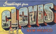 LLT200409 - Clovis, New Mexico, USA Large Letter Town Postcard Post Card Old Vintage Antique