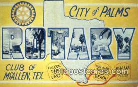 LLT200414 - McAllen, Texas, USA Large Letter Town Postcard Post Card Old Vintage Antique