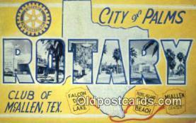 LLT200415 - McAllen, Texas, USA Large Letter Town Postcard Post Card Old Vintage Antique