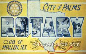 LLT200417 - McAllen, Texas, USA Large Letter Town Postcard Post Card Old Vintage Antique