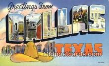 LLT200431 - Dallas, Texas, USA Large Letter Town Postcard Post Card Old Vintage Antique