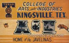 LLT200433 - Kingsville, Texas, USA Large Letter Town Postcard Post Card Old Vintage Antique