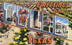 LLT200440 - Tyler, Texas, USA Large Letter Town Postcard Post Card Old Vintage Antique