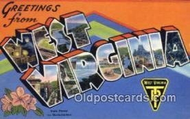 LLT200441 - West Virginia, USA Large Letter Town Postcard Post Card Old Vintage Antique