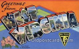 LLT200442 - West Virginia, USA Large Letter Town Postcard Post Card Old Vintage Antique