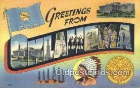 LLT200453 - Oklahoma, USA Large Letter Town Postcard Post Card Old Vintage Antique