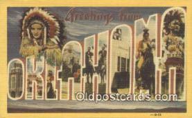 LLT200455 - Oklahoma, USA Large Letter Town Postcard Post Card Old Vintage Antique