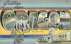 LLT200456 - Oregon, USA Large Letter Town Postcard Post Card Old Vintage Antique
