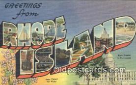 LLT200459 - Rhode Island, USA Large Letter Town Postcard Post Card Old Vintage Antique