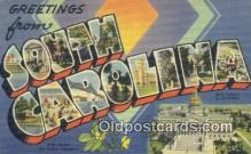 LLT200463 - South Carolina, USA Large Letter Town Postcard Post Card Old Vintage Antique