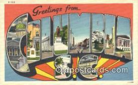 LLT200465 - Columbia, SC, USA Large Letter Town Postcard Post Card Old Vintage Antique