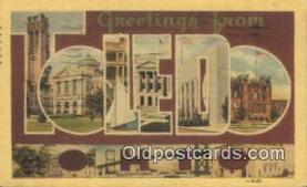 LLT200469 - Toledo, Ohio, USA Large Letter Town Postcard Post Card Old Vintage Antique