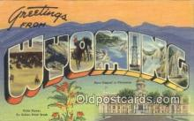 LLT200472 - Wyoming, USA Large Letter Town Postcard Post Card Old Vintage Antique