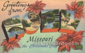 LLT200476 - Noel, Missouri, USA Large Letter Town Postcard Post Card Old Vintage Antique