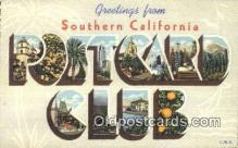 LLT200477 - Southern California, USA Large Letter Town Postcard Post Card Old Vintage Antique