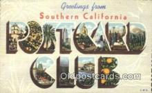 LLT200478 - Southern California, USA Large Letter Town Postcard Post Card Old Vintage Antique