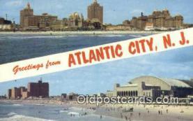 LLT200482 - Atlantic City, NJ, USA Large Letter Town Postcard Post Card Old Vintage Antique