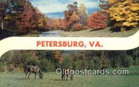 LLT200484 - Petersburg, VA, USA Large Letter Town Postcard Post Card Old Vintage Antique