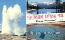 LLT200485 - Yellowstone National Pak, WY, USA Large Letter Town Postcard Post Card Old Vintage Antique