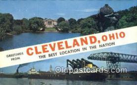 LLT200486 - Cleveland, Ohio, USA Large Letter Town Postcard Post Card Old Vintage Antique
