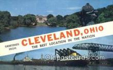 LLT200487 - Cleveland, Ohio, USA Large Letter Town Postcard Post Card Old Vintage Antique