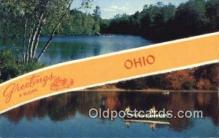 LLT200491 - Ohio, USA Large Letter Town Postcard Post Card Old Vintage Antique