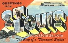 LLT200497 - St. Louis, MO, USA Large Letter Town Postcard Post Card Old Vintage Antique